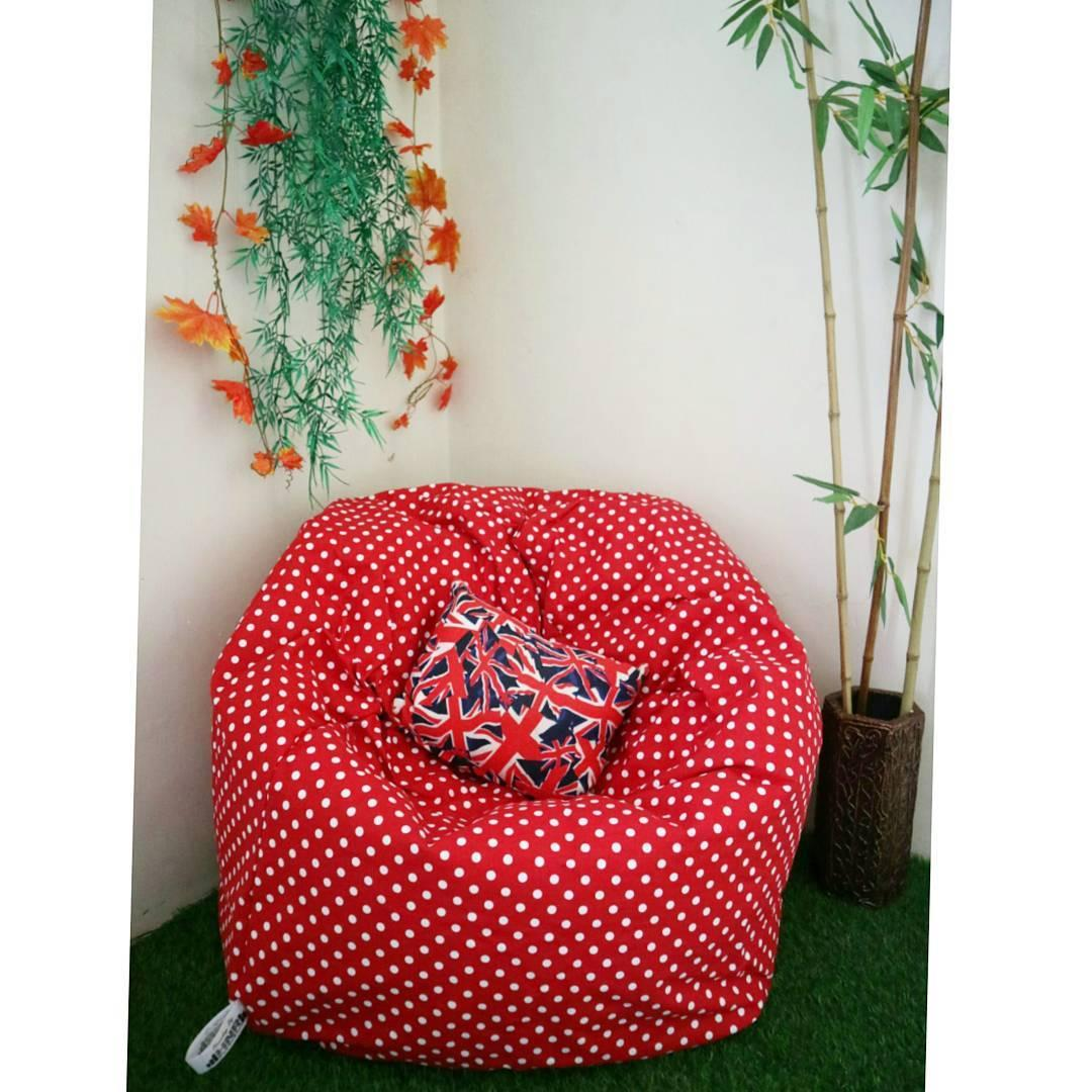 Kursi Santai Bean Bag Oval Motif
