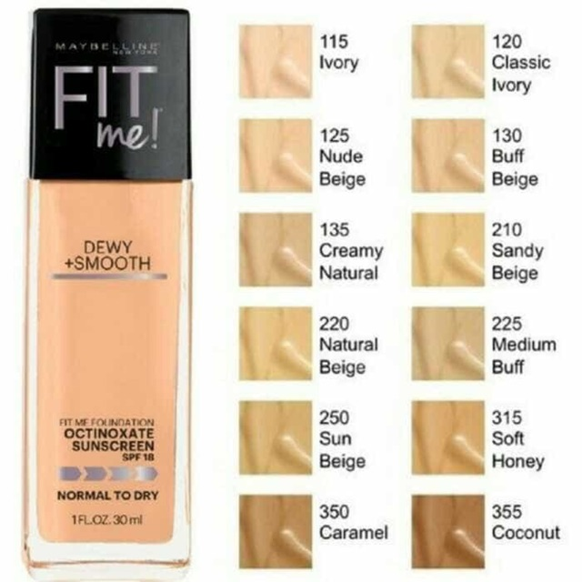Maybelline Fit Me! Foundation Dewy + Smooth